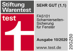 TESTSIEGER Stiftung Warentest SEHR GUT (1,0)
