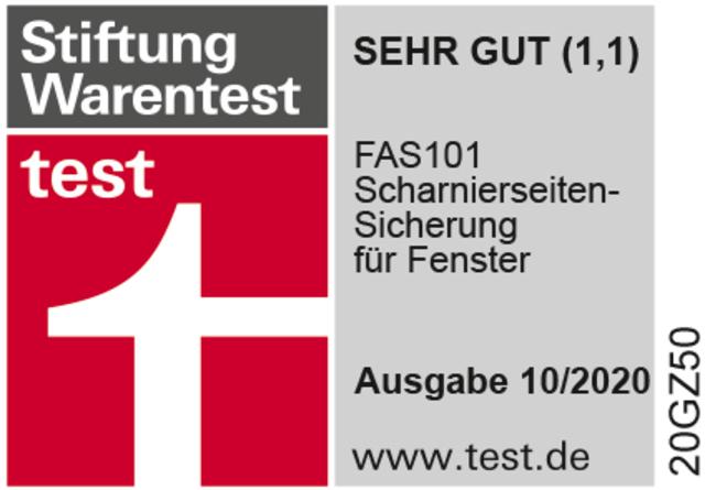 TESTSIEGER Stiftung Warentest SEHR GUT (1,1)
