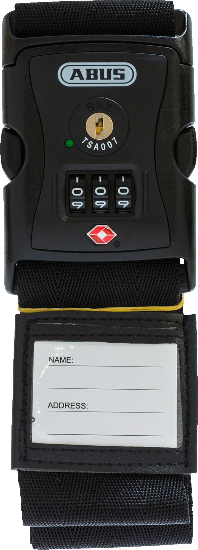 Kofferband 620TSA/192 schwarz luggage strap lock