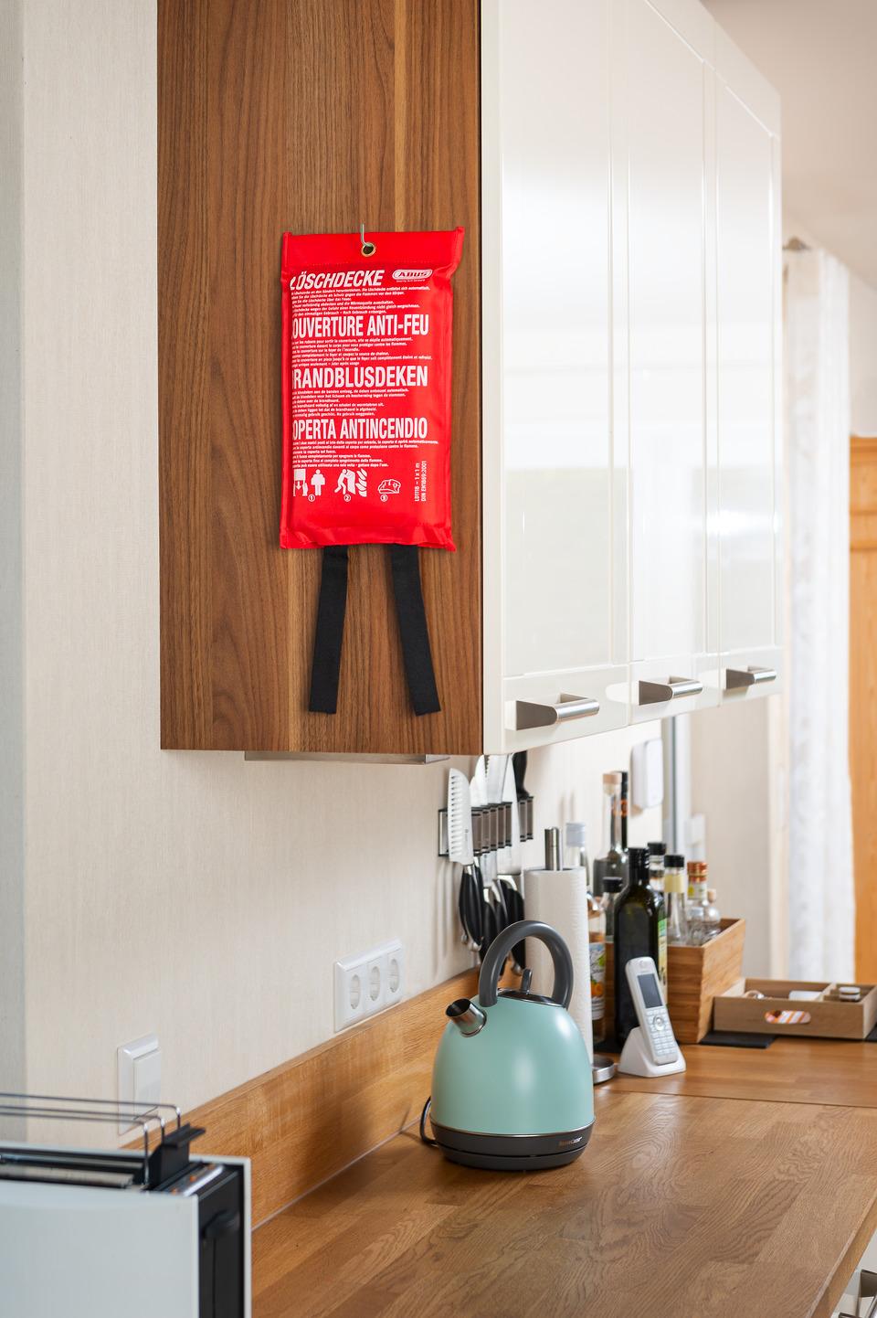 Anwendungsbeispiel – Löschdecke in der Küche