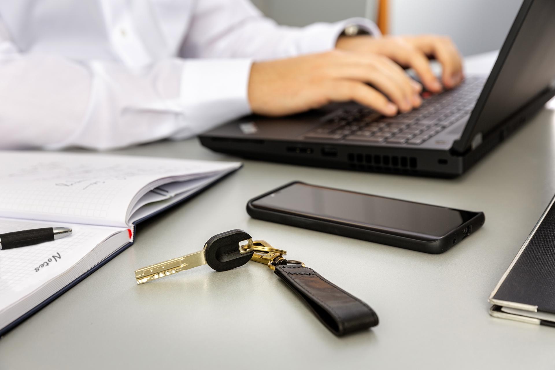 Anwendungsbeispiel - Schlüsselkappe Pro Cap schwarz