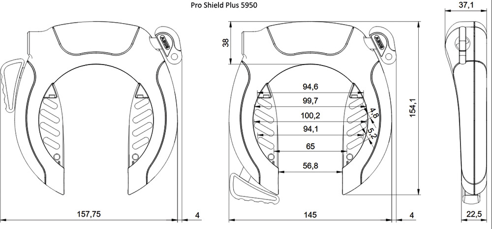 Technical drawing - PRO SHIELD™ Plus 5950