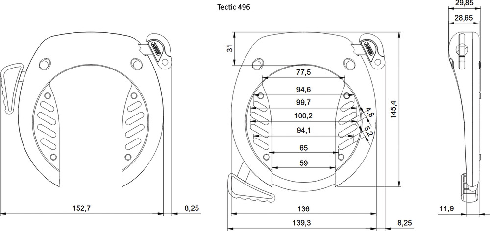Technical drawing - TECTIC™ 496