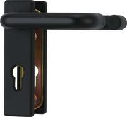 KFG eckig für Feuerschutztüren in schwarz (beidseitig Türgriff)