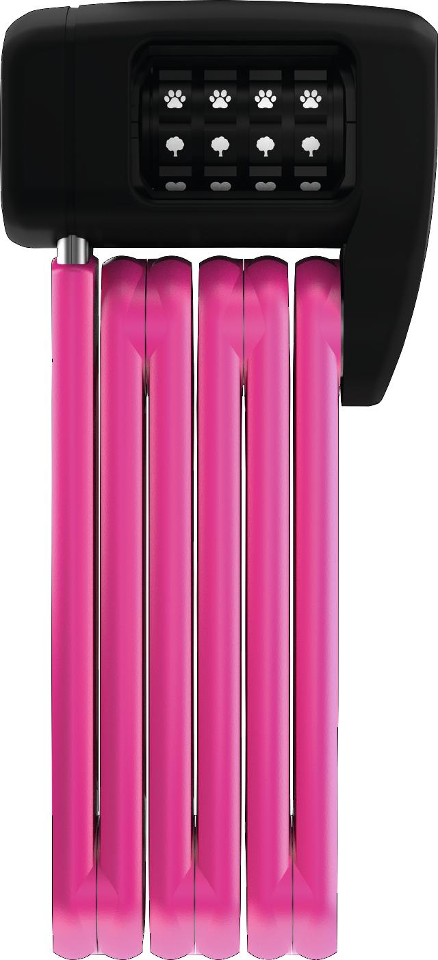 Fällbart lås BORDO™ LITE MINI 6055C/60 pink SYMBOLS