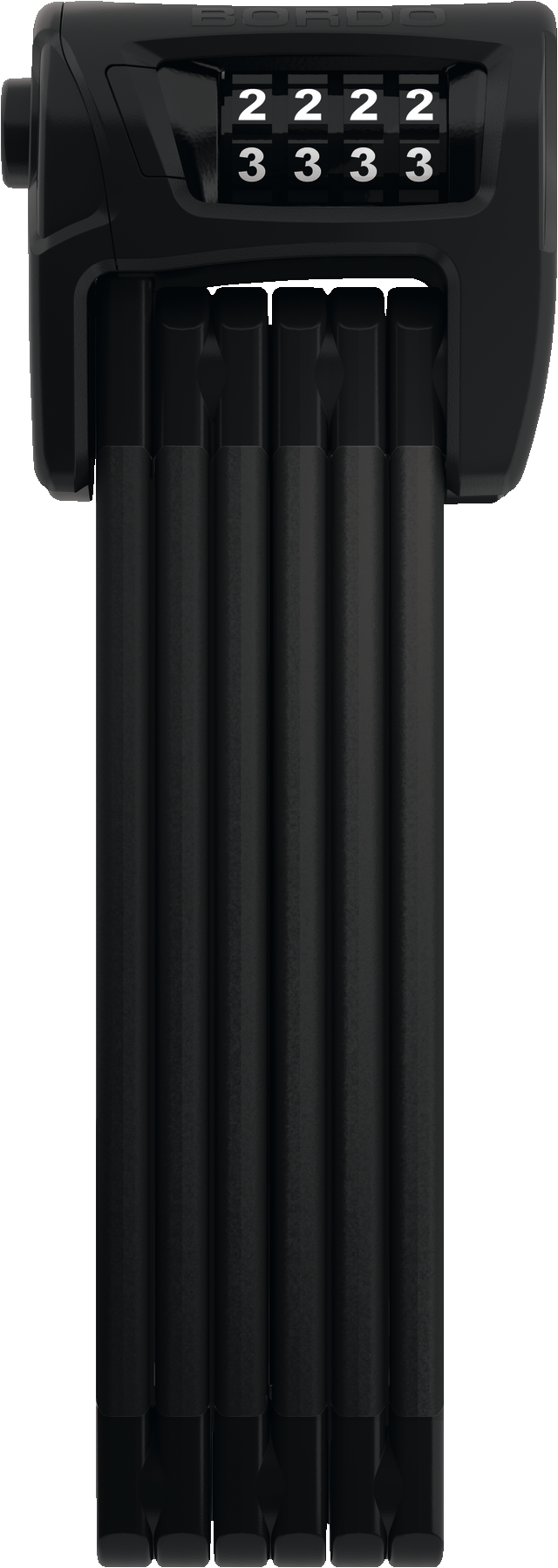 Hajtogatható lakat 6100/90 fekete SH
