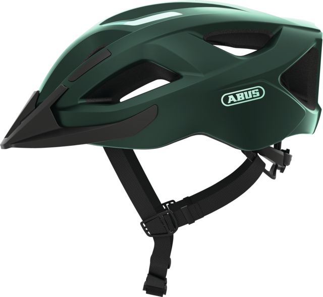 Aduro 2.1 smaragd green side view with visor