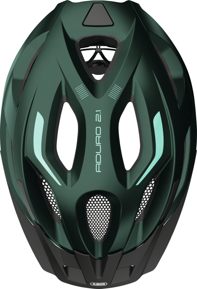 Aduro 2.1 smaragd green top view with visor