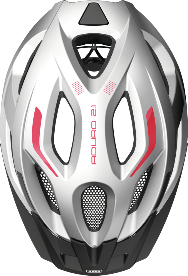 Aduro 2.1 gleam silver top view with visor