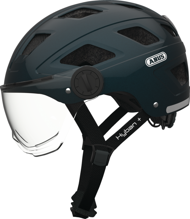 Hyban+ clear visor midnight blue L