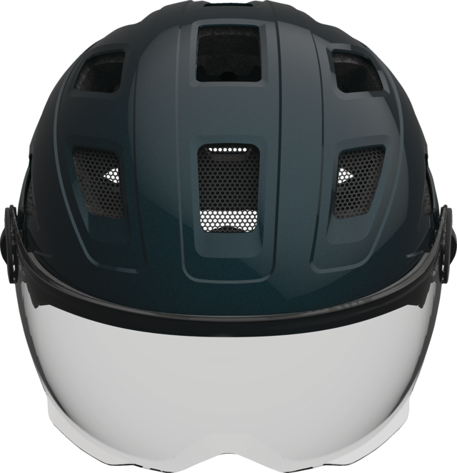 Hyban+ smoke visor midnight blue vista frontal