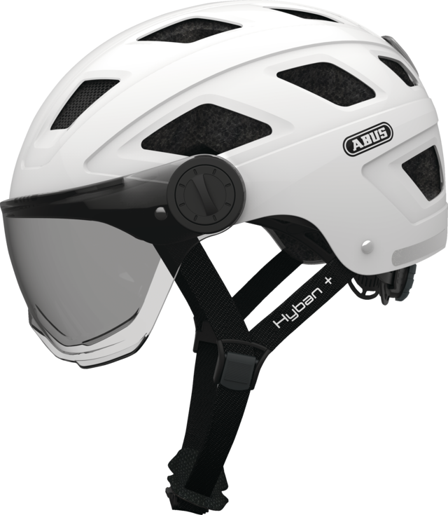 Hyban+ smoke visor cream white side view