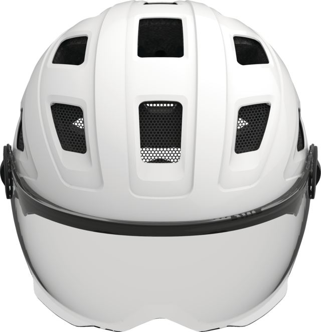 Hyban+ smoke visor cream white front view