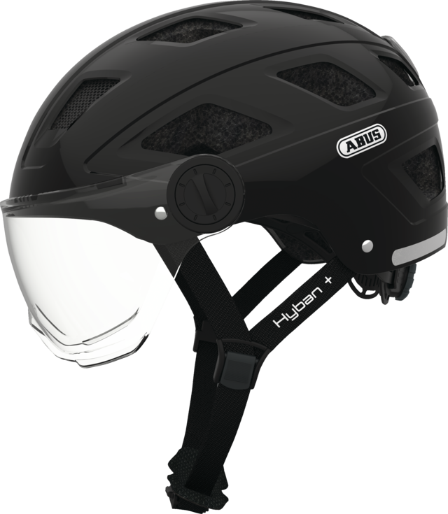 Hyban+ clear visor black side view