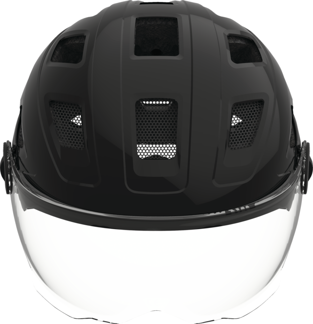 Hyban+ clear visor black front view