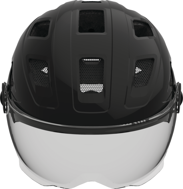 Hyban+ smoke visor black front view