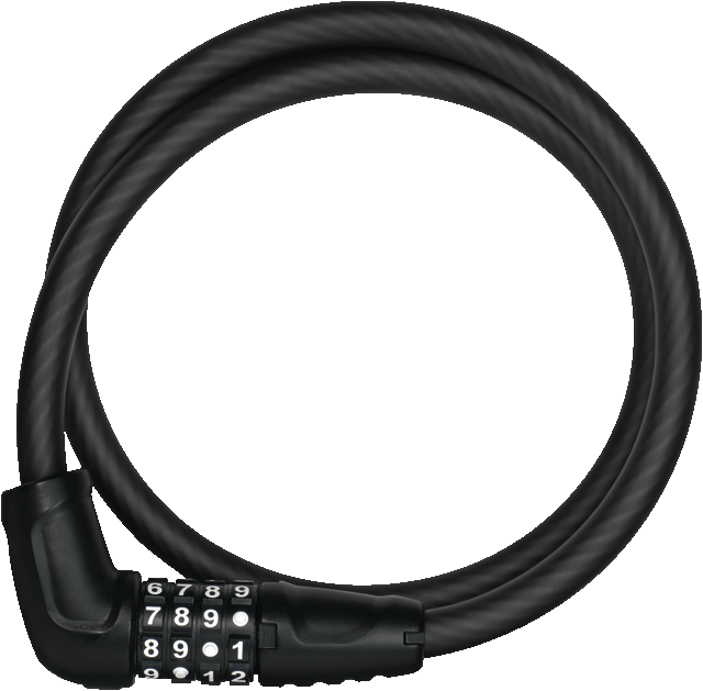 Cable Lock 5412C/85/12 black SCMU