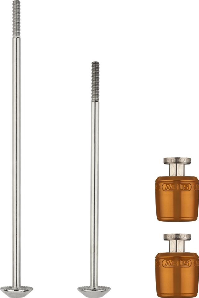 NutFix M5 orange 2x Axle 100/135