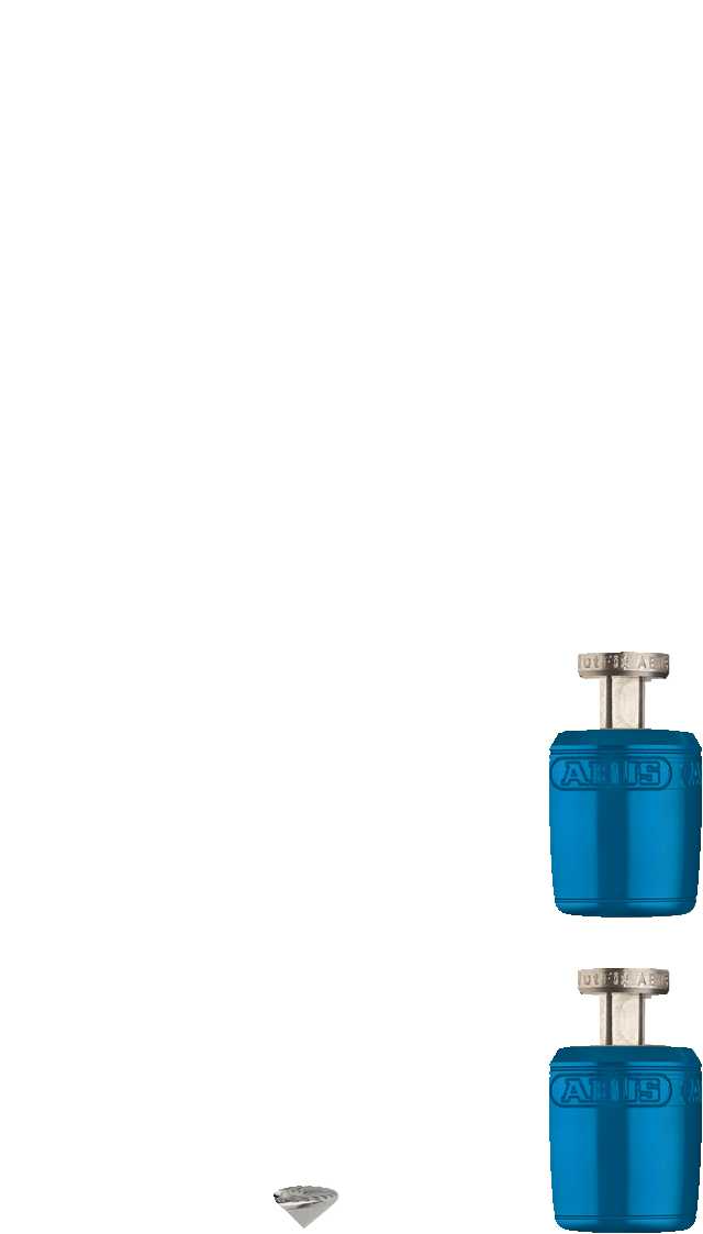 NutFix M5 niebieski Axle 100
