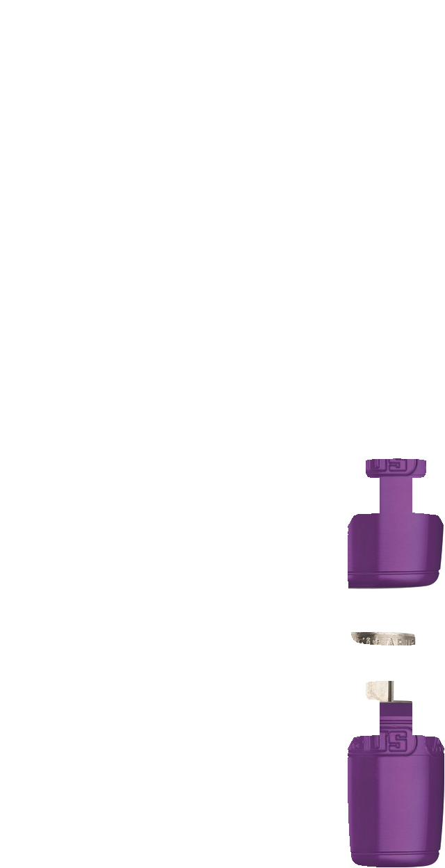 NutFix M5 violet Axle 100