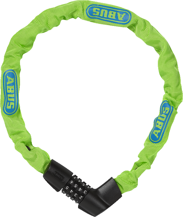Chain lock Tresor 1385/75 Neon green