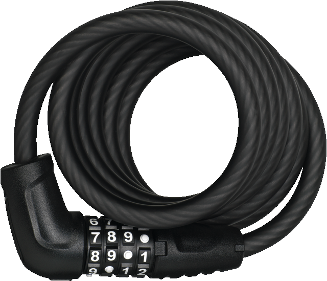 Coil Cable Lock 5510C/180/10 black SCMU