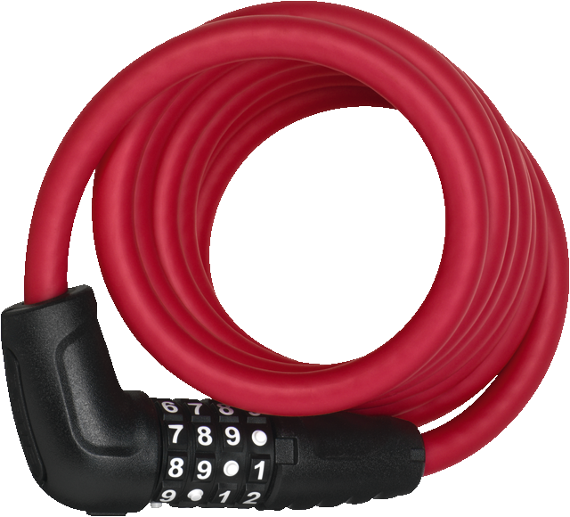 Coil Cable Lock 5510C/180/10 red