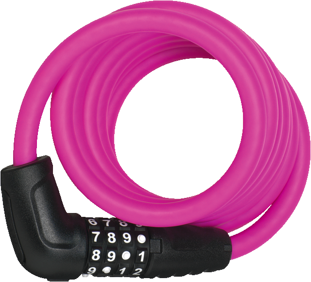 Coil Cable Lock 5510C/180/10 pink