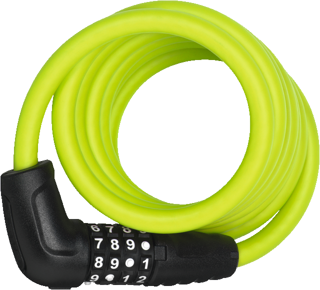 Coil Cable Lock 5510C/180/10 lime SCMU