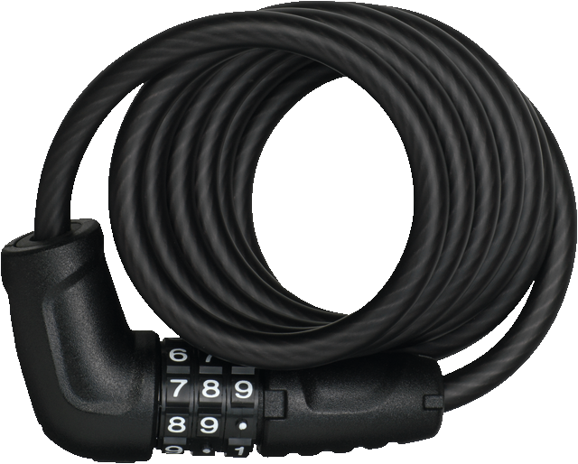 Coil Cable Lock 4508C/150/8 black