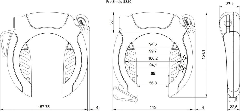 Technische tekening - PRO SHIELD™ 5850