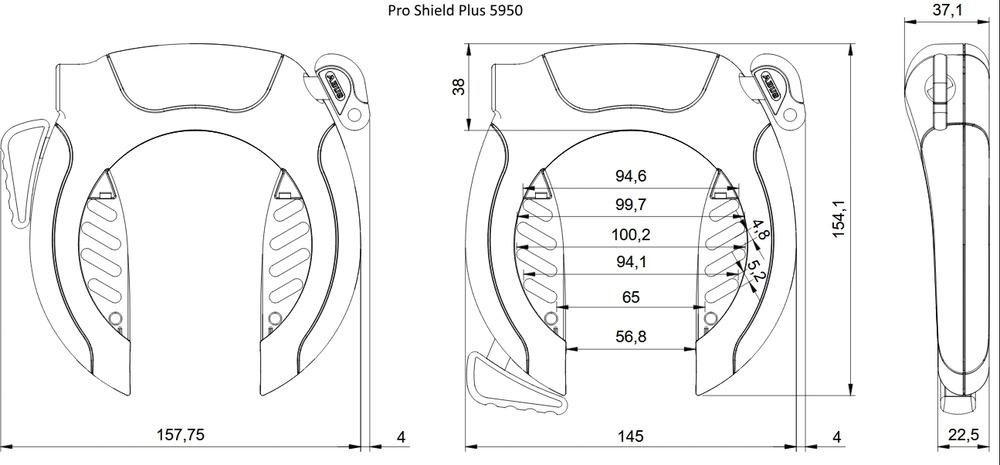 Műszaki rajz - PRO SHIELD™ Plus 5950