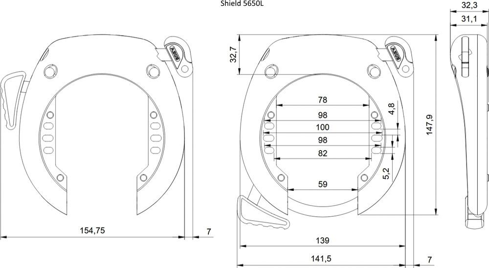 Műszaki rajz - SHIELD™ 5650L