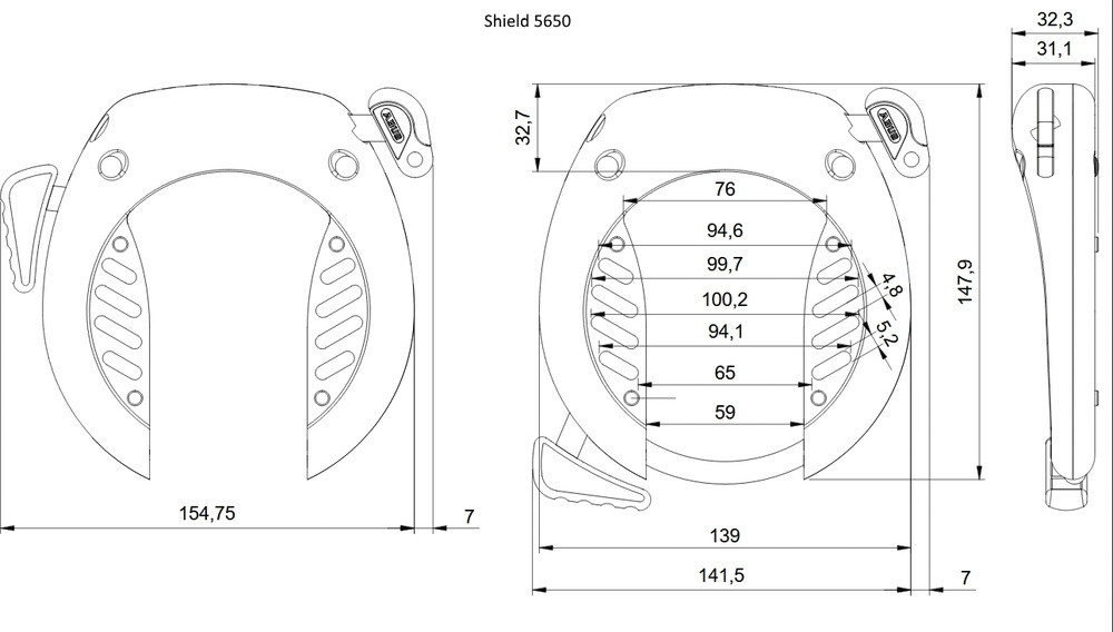 Technical drawing - SHIELD™ 5650