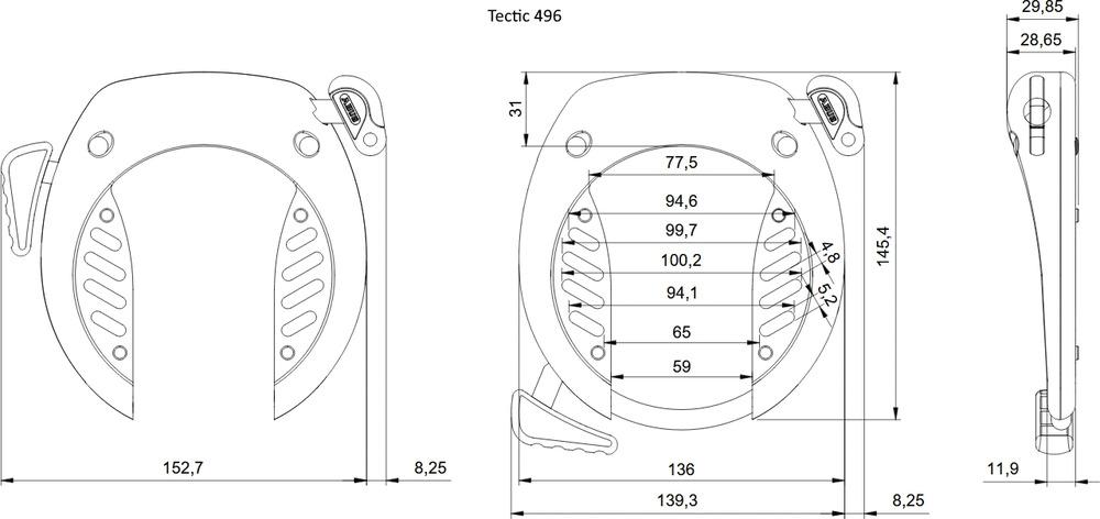 Rysunek techniczny - TECTIC™ 496
