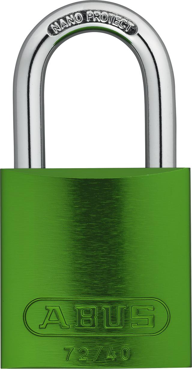 Vorhangschloss Aluminium 72/40 grün Lock-Tag