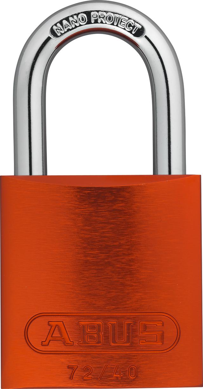 Vorhangschloss Aluminium 72/40 orange Lock-Tag