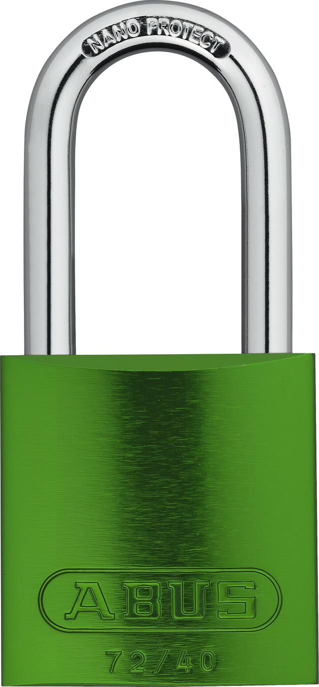 Vorhangschloss Aluminium 72/40HB40 grün HS codifiziert