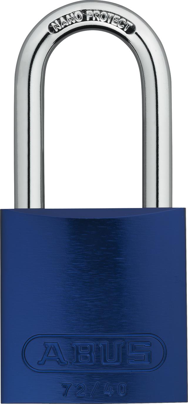 Vorhangschloss Aluminium 72/40HB40 blau HS codifiziert