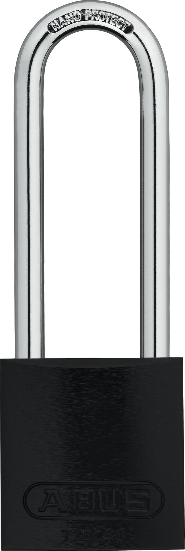 Vorhangschloss Aluminium 72/40HB75 schwarz