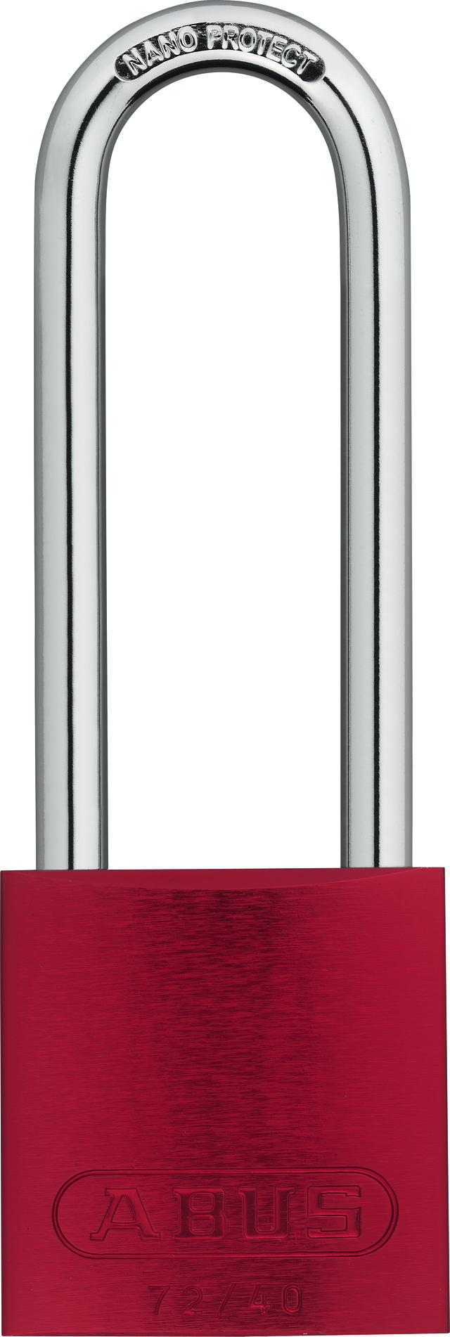 Vorhangschloss Aluminium 72/40HB75 rot HS