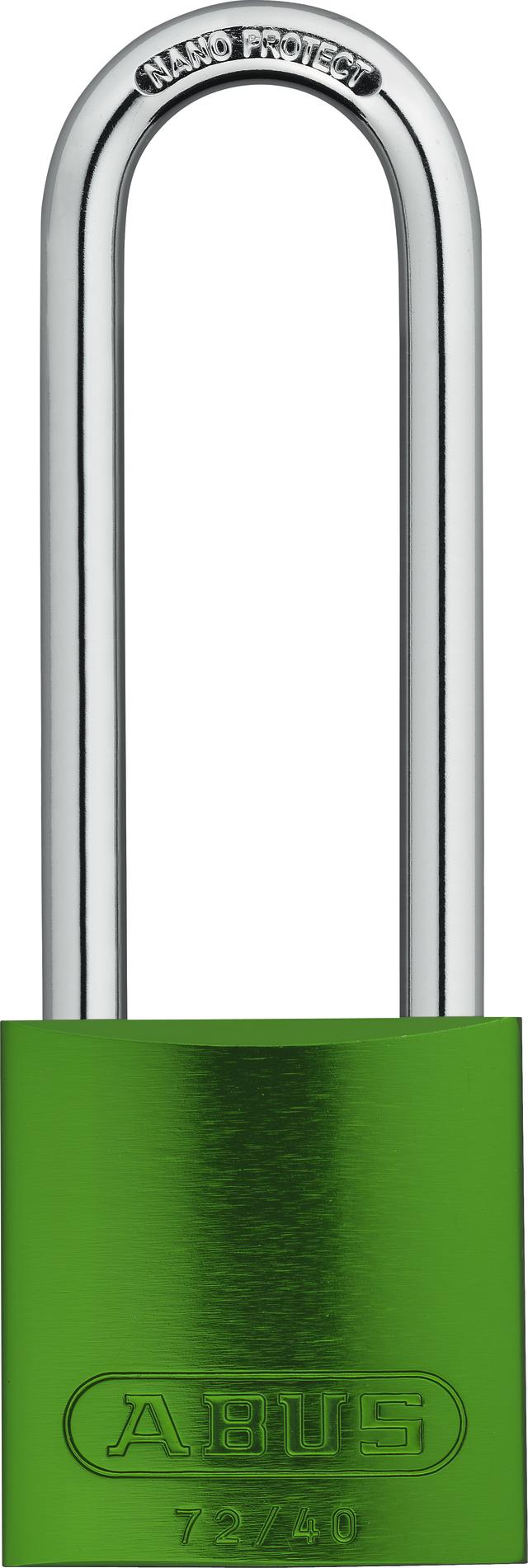 Vorhangschloss Aluminium 72/40HB75 grün