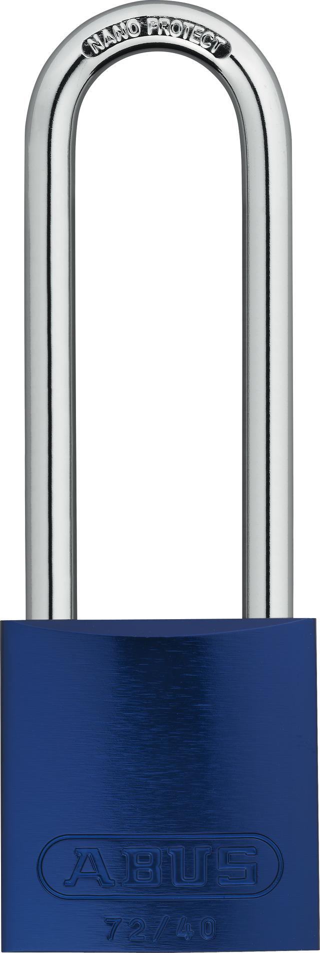 Vorhangschloss Aluminium 72/40HB75 blau