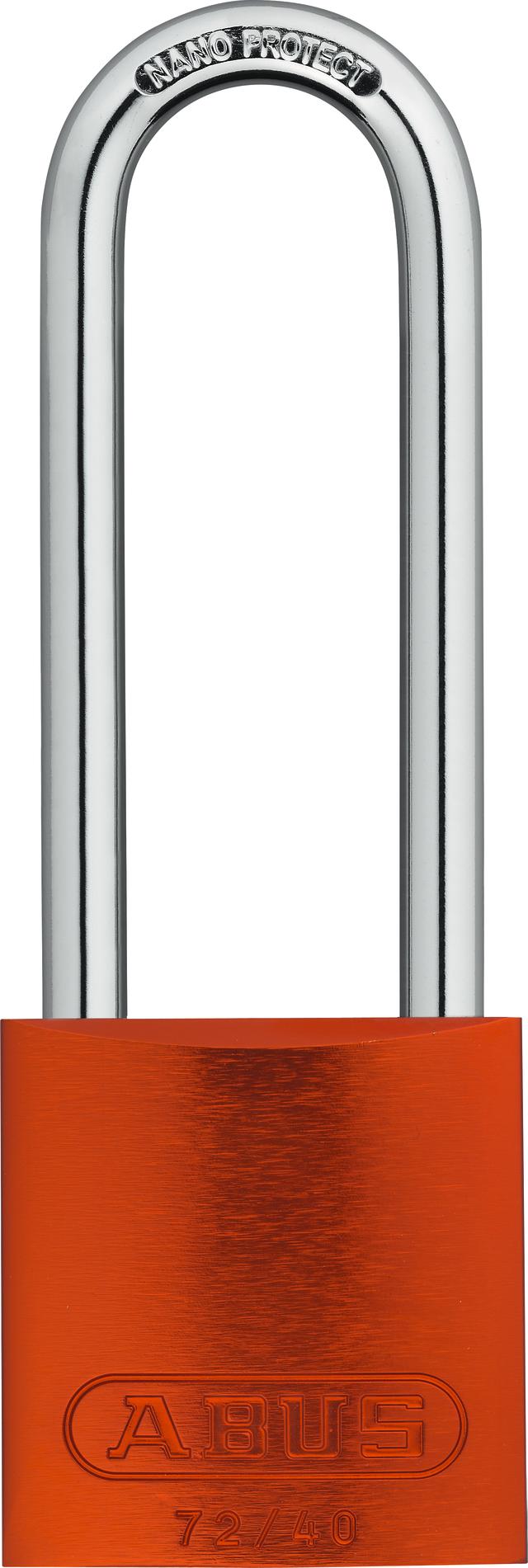 Vorhangschloss Aluminium 72/40HB75 orange