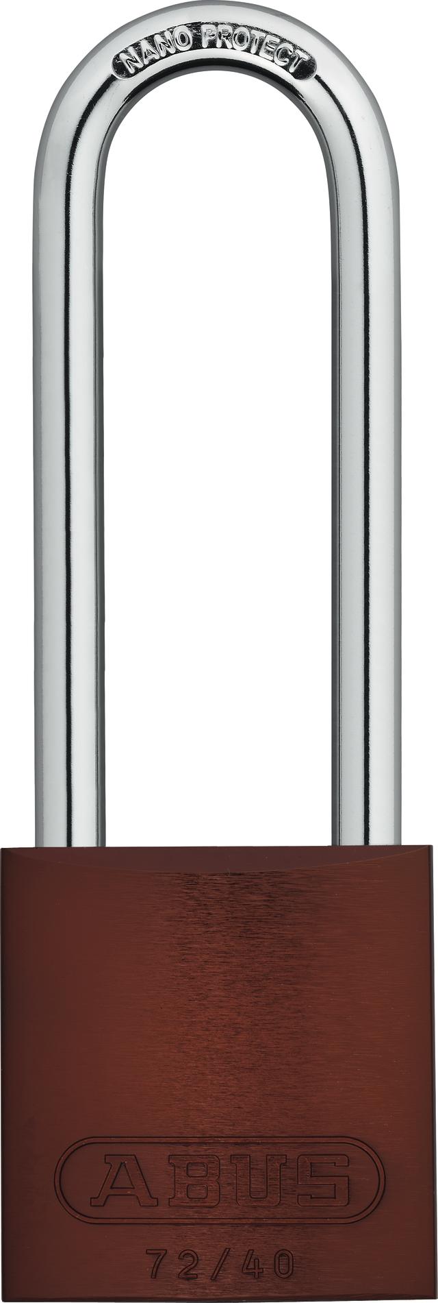 Vorhangschloss Aluminium 72/40HB75 braun