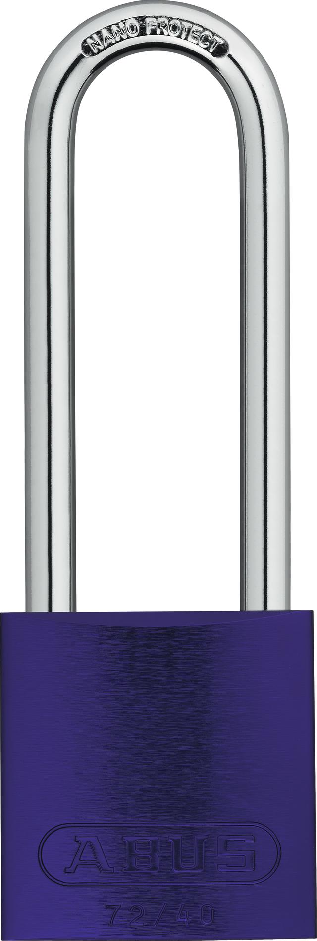 Vorhangschloss Aluminium 74/40HB75 lila