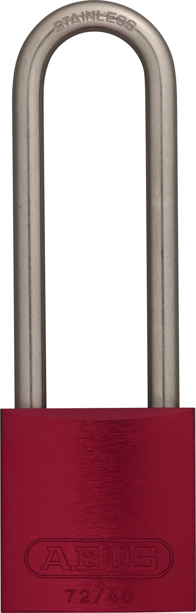 Vorhangschloss Aluminium 72IB/40HB75 rot vs.
