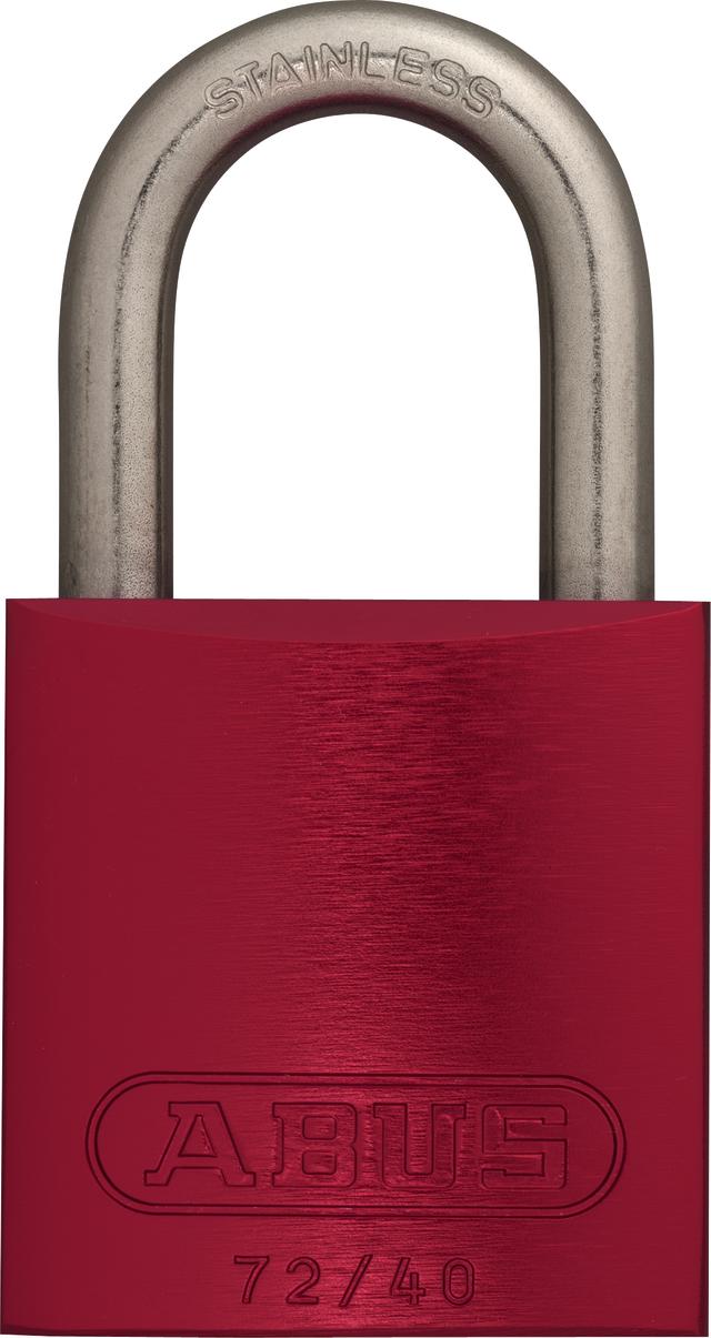 Vorhangschloss Aluminium 72IB/40 rot gl.