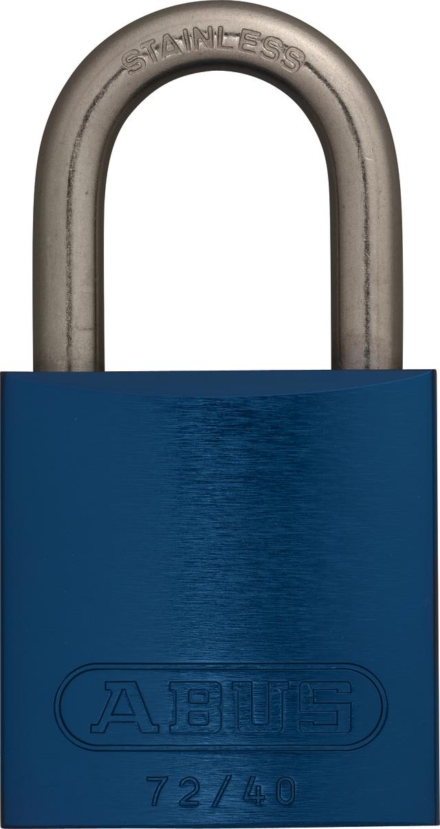 Vorhangschloss Aluminium 72IB/40 blau gl.