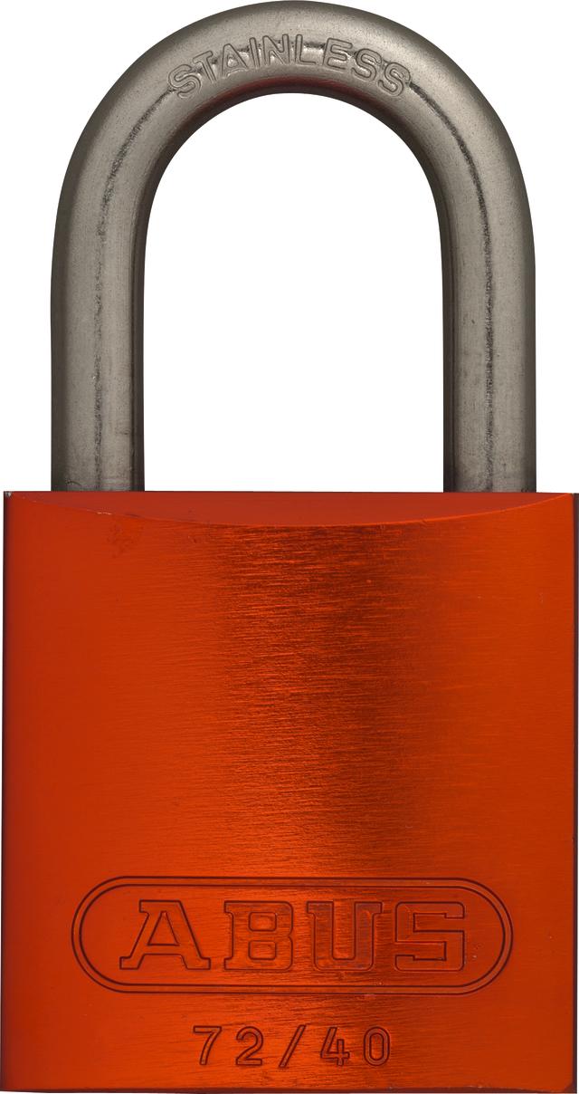 Vorhangschloss Aluminium 72IB/40 orange gl.